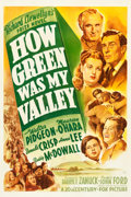 "Movie Posters:Drama, How Green Was My Valley (20th Century Fox, 1941). One Sheet (27"" X41"") Style A.. ..."