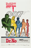 """Movie Posters:James Bond, Dr. No (United Artists, 1962). One Sheet (27"""" X 41""""). Yellow Smoke Style.. ..."""