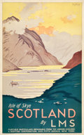"Movie Posters:Miscellaneous, Scotland Isle of Skye Travel Poster (LMS, 1933). Poster (25"" X40""). Artist: RG Praill.. ..."