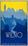 "Movie Posters:Miscellaneous, Vilnius Travel Poster (Polish State Railways, 1928). Poster (24.25X 40"") Artist: Stefan Norblin.. ..."