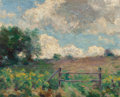 Fine Art - Painting, American:Modern  (1900 1949)  , WELLS M. SAWYER (American, 1863-1961). Against the Sky. Oilon canvas laid on board. 8 x 10 inches (20.3 x 25.4 cm). Sig...