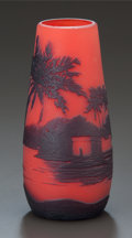 Art Glass:Other , RICHARD OVERLAY GLASS SCENIC VASE, circa 1915. Cameo:Richard. 4-3/4 inches high (12.1 cm). ...