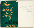Books:Food & Wine, M.F.K. Fisher. INSCRIBED. How to Cook a Wolf. New York:Duell, Sloane and Pearce, 1942. Fourth printing. I...