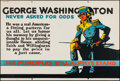 "Movie Posters:Miscellaneous, George Washington Never Asked For Odds (Mather and Company, 1923). Motivational Poster (28"" X 41.5""). Miscellaneous.. ..."