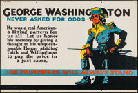"George Washington Never Asked For Odds (Mather and Company, 1923). Motivational Poster (28"" X 41.5""). Miscella..."