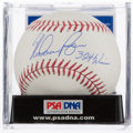 "Baseball Collectibles:Balls, Nolan Ryan ""324 Wins"" Single Signed Baseball PSA Mint 9. ..."