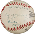 "Autographs:Baseballs, 1944 Cy Young Single Signed ""Stat"" Baseball...."