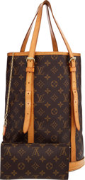 Luxury Accessories:Bags, Louis Vuitton Classic Monogram Canvas Bucket GM Bag with Pouch ....