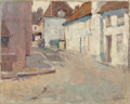 Fine Art - Painting, American:Modern  (1900 1949)  , LIZBETH CLIFTON HUNTER (American, 1868-1948). Afternoon Shadowson a Quiet Street, France. Oil on canvas. 16 x 20 inches...