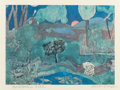 Prints, ROMARE HOWARD BEARDEN (American, 1914-1988). Recollection Pool. Offset lithograph in colors. 12 x 17 inches (30.5 x 43.2...