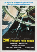 "Movie Posters:Science Fiction, 2001: A Space Odyssey (MGM, R-1970s). Italian 2 - Foglio (39"" X55""). Science Fiction.. ..."