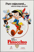 "Movie Posters:Animation, Pinocchio and Other Lot (Buena Vista, R-1984). One Sheets (2) (27"" X 41""). Animation.. ... (Total: 2 Items)"