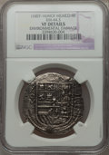 Mexico, Mexico: Felipe III Cob 8 Reales ND(1607-16) Mo-F VFDetails(Environmental Damage) NGC,...