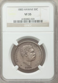 Coins of Hawaii: , 1883 50C Hawaii Half Dollar VF35 NGC. NGC Census: (33/426). PCGSPopulation (38/622). Mintage: 700,000. ...