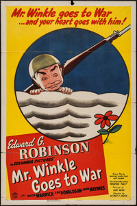 "Mr. Winkle Goes to War (Columbia, 1944). One Sheet (27"" X 41"") Style B, Title Lobby Card and Lobby Cards (6) (..."