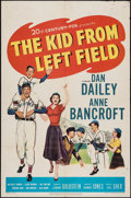 "Movie Posters:Sports, The Kid from Left Field & Other Lot (20th Century Fox, 1953). One Sheet (27"" X 41"") & Lobby Cards (2) (11"" X 14""). Sports.. ... (Total: 3 Items)"