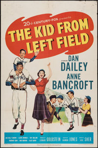 """The Kid from Left Field & Other Lot (20th Century Fox, 1953). One Sheet (27"""" X 41"""") & Lobby Ca..."""