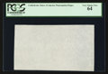 "Fractional Currency:First Issue, ""CSA"" Watermarked Paper - Single Block. PCGS Very Choice New 64.. ..."