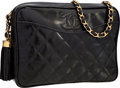 "Luxury Accessories:Bags, Chanel Black Quilted Lizard Camera Bag with Tassel. ExcellentCondition . 9"" Width x 6.5"" Height x 2.25"" Depth. ..."