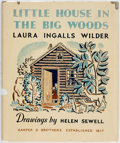 Books:Children's Books, Laura Ingalls Wilder. Little House in the Big Woods. NewYork: Harper. 1932. Publisher's binding with original dust ...