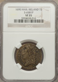 Ireland, Ireland: James II Shilling 1690 MAR VF35 NGC,...