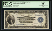 Fr. 715* $1 1918 Federal Reserve Bank Note PCGS Apparent Very Fine 35