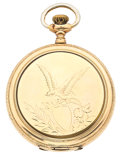 Timepieces:Pocket (post 1900), Hampden & Waltham Hunter's Case Pocket Watches Runners. ...(Total: 2 Items)