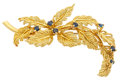 Estate Jewelry:Brooches - Pins, Sapphire, Gold Brooch, Tiffany & Co.. ...