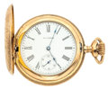 Timepieces:Pocket (post 1900), Waltham Gold Filled Hunter's Case Pocket Watch. ...
