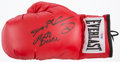 Boxing Collectibles:Autographs, Sugar Ray Leonard and Roberto Duran Multi Signed Boxing Gloves....