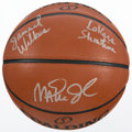 """Basketball Collectibles:Balls, Jamaal Wilkes and Magic Johnson """"Lakers Showtime"""" Multi SignedBasketball...."""