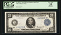 Fr. 1011a* $20 1914 Federal Reserve Note PCGS Apparent Very Fine 30