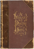 Books:Literature Pre-1900, William Cullen Bryant, editor. A Library of Poetry and Song.New York: J.B. Ford, 1873. Contemporary half morocco. E...