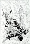 "Original Comic Art:Covers, Jim Lee and Scott Williams Divine Right ""DivineIntervention/Wildcats"" Cover and Promo Poster Original Art(Image... (Total: 2 Original Art)"
