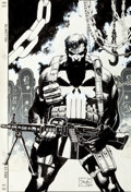 Original Comic Art:Covers, Jim Lee Punisher Armory #2 Cover Original Art (Marvel,1991)....
