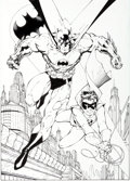 Original Comic Art:Illustrations, Jim Lee and Scott Williams Batman and Robin: Partners In Fighting Crime Lithograph Original Art (Warner Brothers, ...