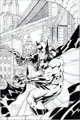 Jim Lee and Scott Williams Batman Black and White #1 Cover Original Art (DC, 1996)