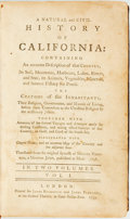 Books:Americana & American History, [California]. Miguel Venegas. A Natural and Civil History ofCalifornia. London: James Rivington and James Fletcher,...