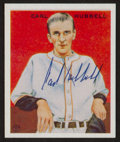 Baseball Cards:Autographs, Carl Hubbell Signed Reprint Card....