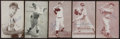 Baseball Cards:Autographs, 1920's-84 Baseball Notables Signed Cards Lot of 5....