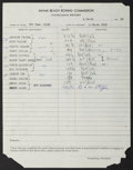 Boxing Collectibles:Memorabilia, 1929-81 Boxing Documents Including Barney Ross Suspension Lot of 7....