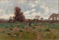 HENRY ORNE RYDER (American, 1860-1943) Gathering Wood, Brittany, 1884 Oil on canvas 15