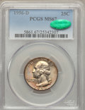 Washington Quarters, 1956-D 25C MS67 PCGS. CAC....