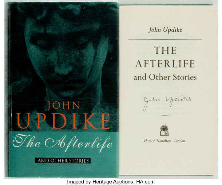 John Updike  SIGNED  The Afterlife and Other Stories  London