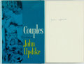 Books:Literature 1900-up, John Updike. SIGNED. Couples. Knopf, 1968. First edition.Signed by the author. Publisher's cloth and original d...