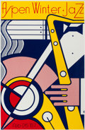 Prints:Contemporary, ROY LICHTENSTEIN (American, 1923-1997). Aspen Winter JazzPoster, 1967. Screenprint in colors on heavy gloss paper. 40x...