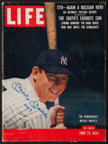 """Autographs:Others, Signed Mickey Mantle June 25, 1956 """"LIFE"""" Magazine. ..."""