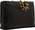 Luxury Accessories:Bags, Chanel Black Lambskin Leather Large Tote Bag with Gold Hardware....