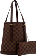 Luxury Accessories:Bags, Louis Vuitton Damier Ebene Bucket PM Bag with Pochette . ...