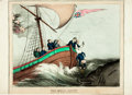"Books:Prints & Leaves, Hand-Colored British Political Cartoon, ""The Royal Jonah."" Brookes,[n.d.]. Measures 16"" x 11"". Some edgewear. Very good. ..."